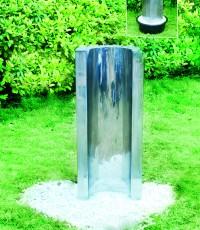 Градински фонтан Wave от неръждаема стомана
