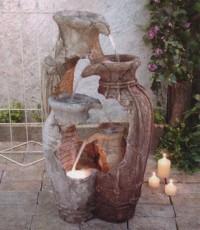 Градински фонтан Счупени делви от полирезин