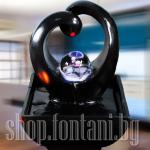 Вътрешен фонтан сърце с LED осветление