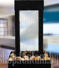 Вътрешен фонтан водна стена с LED осветление